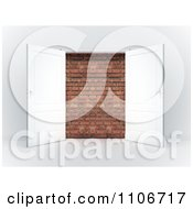 Clipart 3d French Doors Open To A Brick Wall Royalty Free CGI Illustration by Mopic