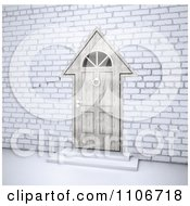 Clipart 3d House Shaped Door In A Brick Wall Royalty Free CGI Illustration by Mopic