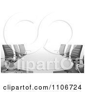 Clipart 3d Office Conference Room Table And Chairs Royalty Free CGI Illustration by Mopic