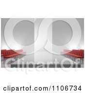 Clipart 3d Fashion Show Catwalk And Empty Seating Area Royalty Free CGI Illustration by Mopic