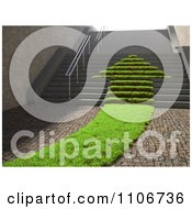 Clipart 3d Grassy Arrow Path Of Leading Up Stairs Royalty Free CGI Illustration