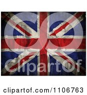 Clipart Grungy Creased 3d Union Jack Flag Royalty Free CGI Illustration