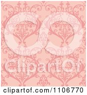 Clipart Seamless Pink Damask Background Pattern Royalty Free Vector Illustration