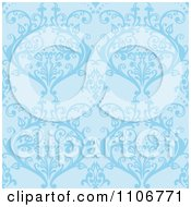 Clipart Seamless Blue Damask Background Pattern Royalty Free Vector Illustration by Amanda Kate