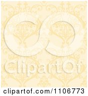 Clipart Seamless Yellow Damask Background Pattern Royalty Free Vector Illustration by Amanda Kate