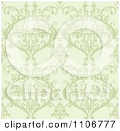 Clipart Seamless Lacy Green Damask Background Pattern Royalty Free Vector Illustration by Amanda Kate