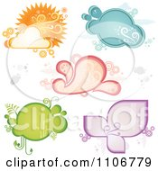 Clipart Retro Weather And Ecology Frames Royalty Free Vector Illustration