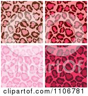 Seamless Pink Leopard Print Background Patterns