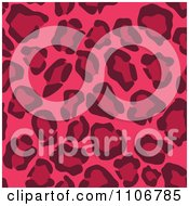 Seamless Pink Leopard Print Background Pattern 4