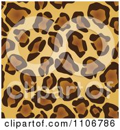Seamless Tan And Brown Leopard Print Background Pattern