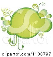 Clipart Retro Green Bubble Bamboo Frame Royalty Free Vector Illustration by Character Market
