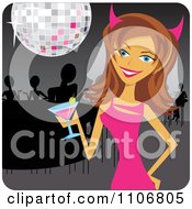 Clipart Happy Bride Celebrating At Her Bachelorette Party Royalty Free Vector Illustration