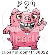 Clipart Confused Ugly Pig Royalty Free Vector Illustration by Cory Thoman