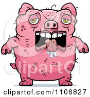 Clipart Depressed Ugly Pig Royalty Free Vector Illustration by Cory Thoman