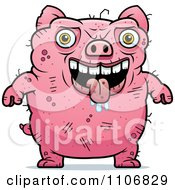 Clipart Ugly Pig Royalty Free Vector Illustration