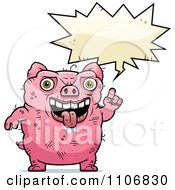 Clipart Ugly Pig Talking Royalty Free Vector Illustration by Cory Thoman