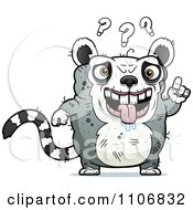 Clipart Confused Ugly Lemur Royalty Free Vector Illustration by Cory Thoman