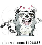 Clipart Amorous Ugly Lemur Royalty Free Vector Illustration by Cory Thoman