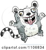 Clipart Jumping Ugly Lemur Royalty Free Vector Illustration by Cory Thoman