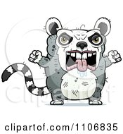 Clipart Angry Ugly Lemur Royalty Free Vector Illustration by Cory Thoman
