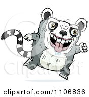 Clipart Running Ugly Lemur Royalty Free Vector Illustration by Cory Thoman
