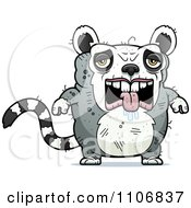 Clipart Depressed Ugly Lemur Royalty Free Vector Illustration by Cory Thoman