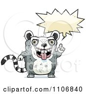 Clipart Talking Ugly Lemur Royalty Free Vector Illustration by Cory Thoman