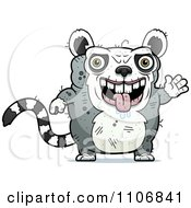 Clipart Waving Ugly Lemur Royalty Free Vector Illustration by Cory Thoman
