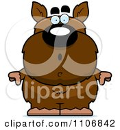 Clipart Surprised Pudgy Werewolf Royalty Free Vector Illustration by Cory Thoman