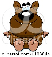 Clipart Sitting Pudgy Werewolf Royalty Free Vector Illustration by Cory Thoman