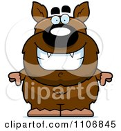 Clipart Happy Pudgy Werewolf Royalty Free Vector Illustration