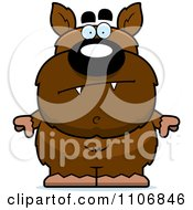 Clipart Calm Pudgy Werewolf Royalty Free Vector Illustration by Cory Thoman