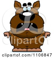 Clipart Scared Pudgy Werewolf Royalty Free Vector Illustration by Cory Thoman