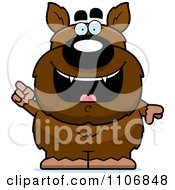 Clipart Pudgy Werewolf With An IDea Royalty Free Vector Illustration by Cory Thoman