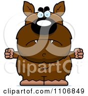 Clipart Angry Pudgy Werewolf Royalty Free Vector Illustration by Cory Thoman