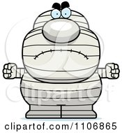 Clipart Angry Pudgy Mummy Royalty Free Vector Illustration by Cory Thoman