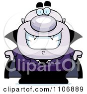 Clipart Happy Pudgy Purple Vampire Royalty Free Vector Illustration