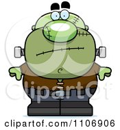 Clipart Nervous Pudgy Frankenstein Royalty Free Vector Illustration by Cory Thoman