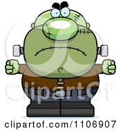 Clipart Angry Pudgy Frankenstein Royalty Free Vector Illustration by Cory Thoman