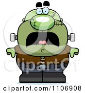 Clipart Scared Pudgy Frankenstein Royalty Free Vector Illustration by Cory Thoman