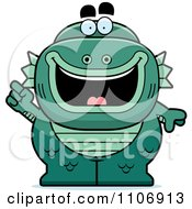 Clipart Fish Man Monster With An Idea Royalty Free Vector Illustration by Cory Thoman