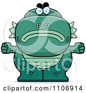 Clipart Angry Fish Man Monster Royalty Free Vector Illustration by Cory Thoman