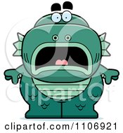 Clipart Scared Fish Man Monster Royalty Free Vector Illustration by Cory Thoman