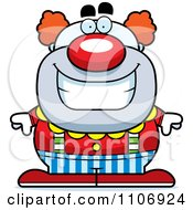 Clipart Happy Pudgy Circus Clown Royalty Free Vector Illustration by Cory Thoman
