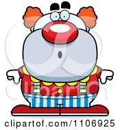 Clipart Surprised Pudgy Circus Clown Royalty Free Vector Illustration