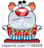 Clipart Calm Pudgy Circus Clown Royalty Free Vector Illustration