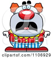 Clipart Scared Pudgy Circus Clown Royalty Free Vector Illustration