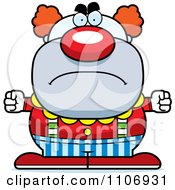 Clipart Angry Pudgy Circus Clown Royalty Free Vector Illustration