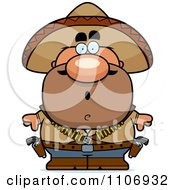 Clipart Surprised Hispanic Bandit Royalty Free Vector Illustration by Cory Thoman