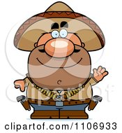 Clipart Waving Hispanic Bandit Royalty Free Vector Illustration